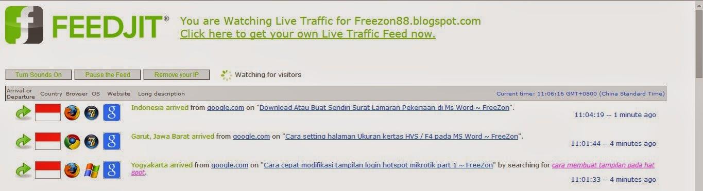 melihat keyword pengunjung blog dengan feedjit