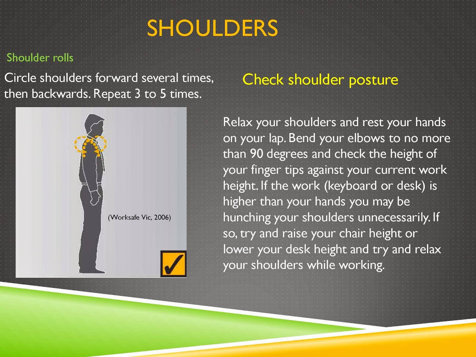 SHOULDER POSTURE AND SHOULDER ROLLS