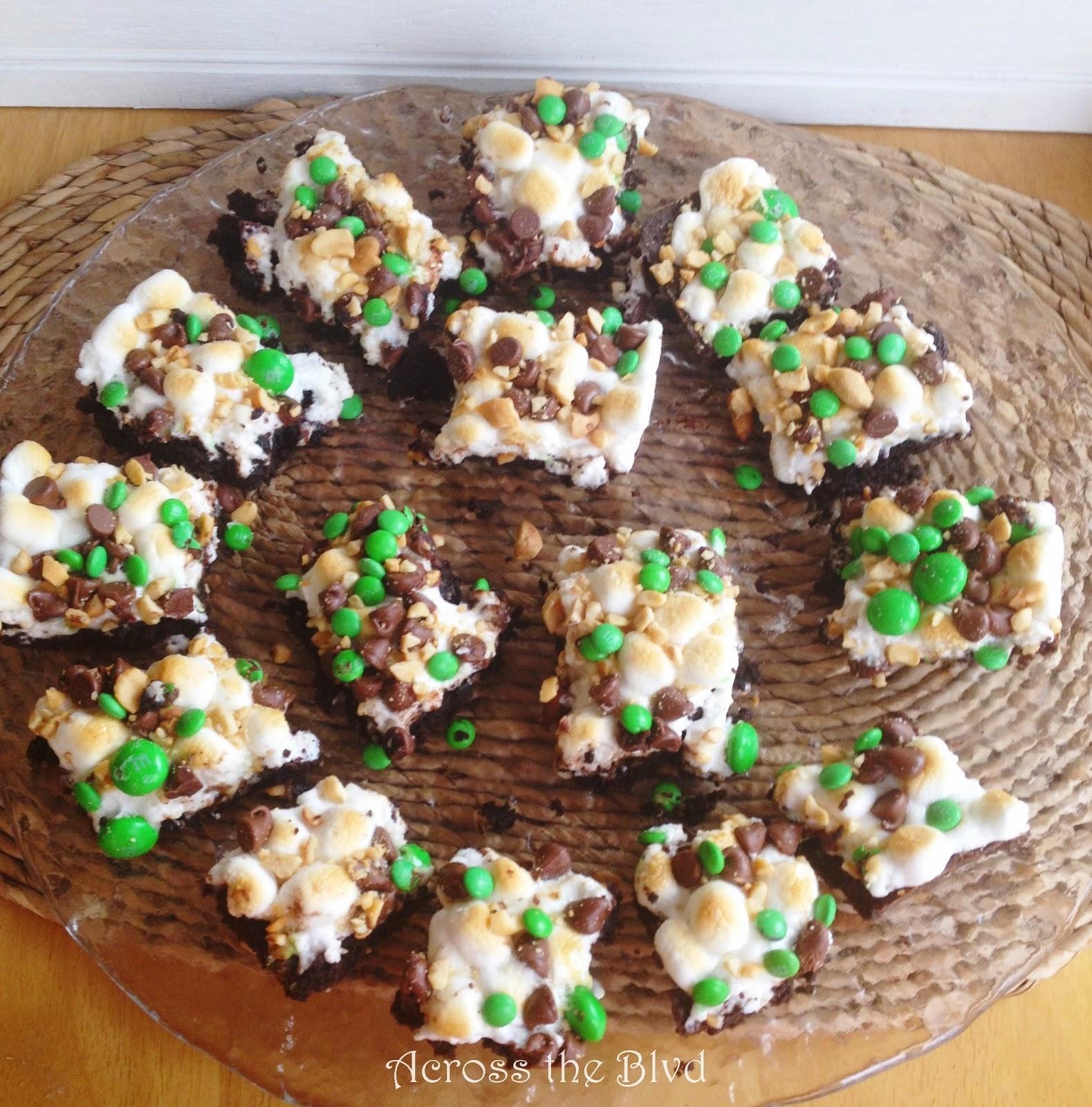 Marshmallow & Mint Brownies
