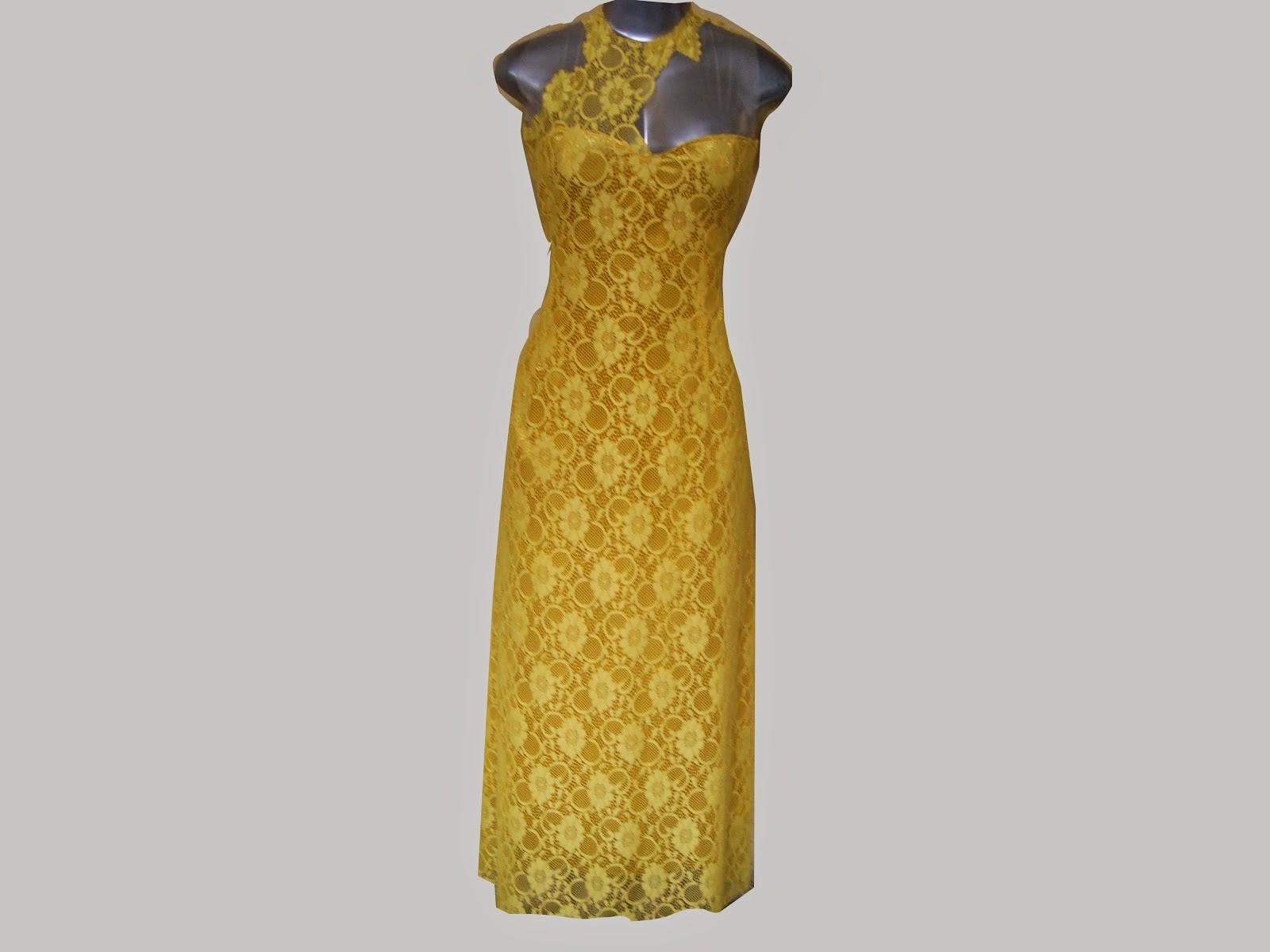 vestido de longo de renda