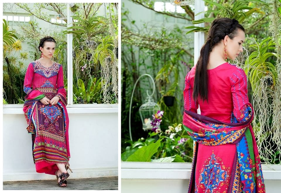 MonsoonLawn2014ByAl ZohaibTextile wwwfashionhuntworldblogspotcom 20 - Monsoon Lawn Spring/Summer Collection 2014