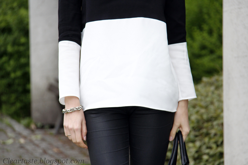 black white blouse zara