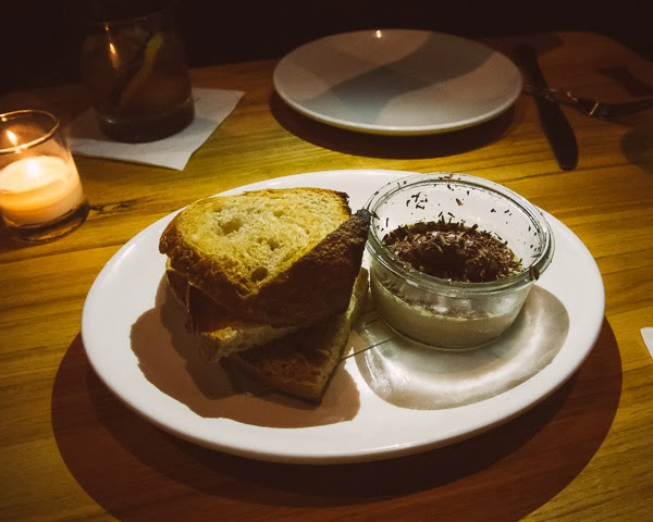 Chicken liver pate at  Rolf and Daughters restaurant in Nashville Tennessee