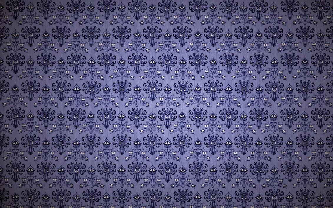 Cassie Stephens: haunted mansion wallpaper