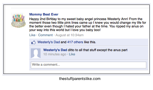 "Happy Birthday Facebook Wall Posts The stuff parents like: "" happy ..."