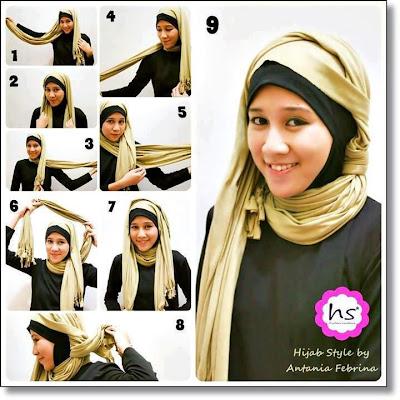 Cara Pakai Jilbab Style By Antania Febrina