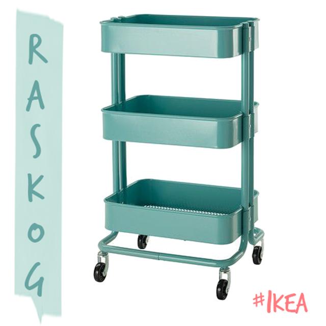 decoración de interiores Ikea carrito Raskog hermanas bolena