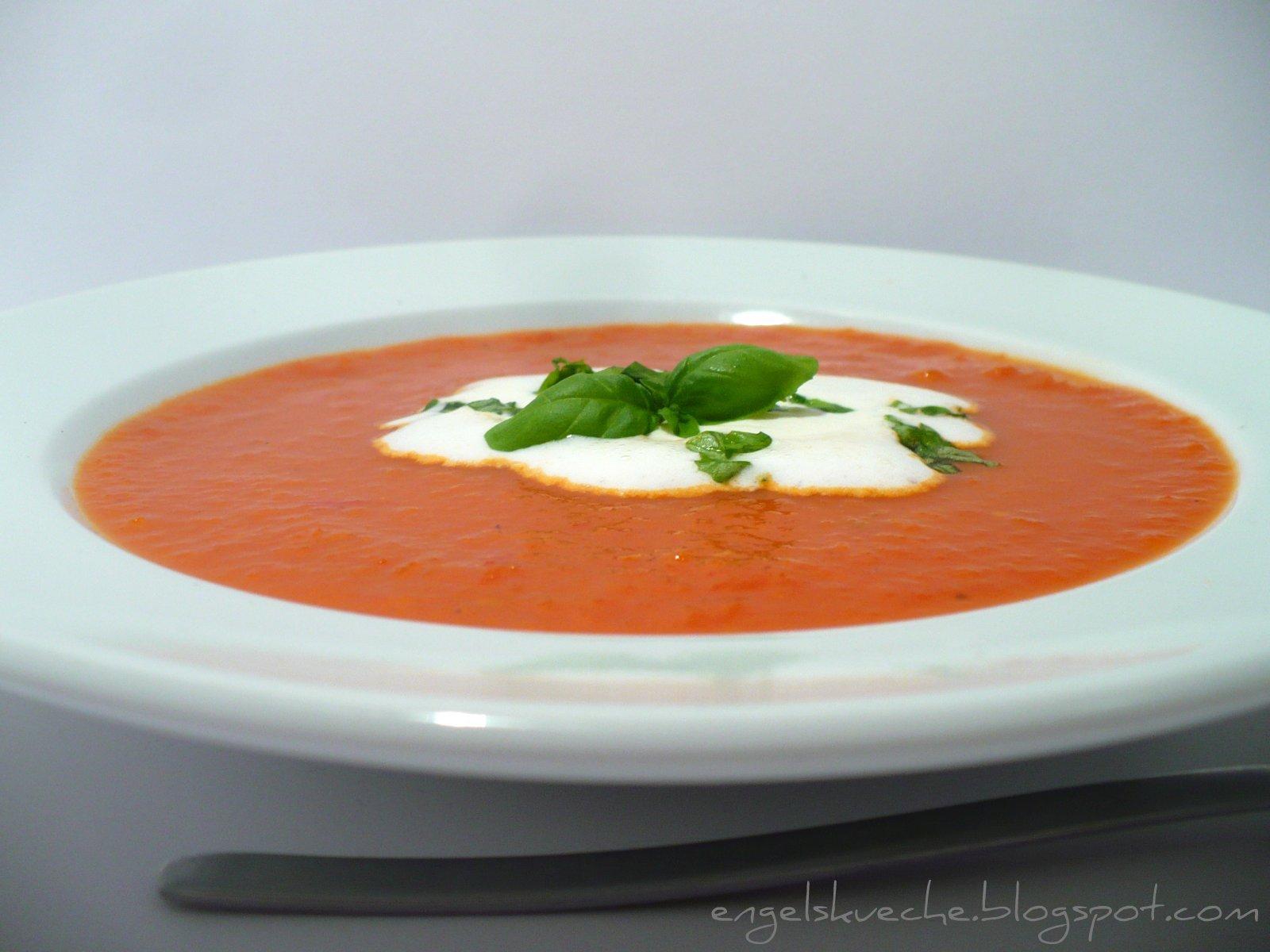 essen aus engelchens küche: schnelle tomatensuppe aus der mikrowelle - Schnelle Küche Für Zwei