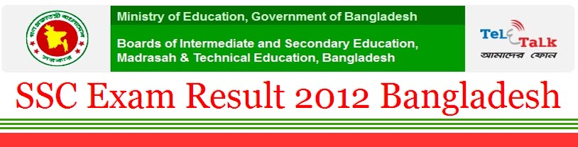 SSC Exam Result 2012 Bangladesh