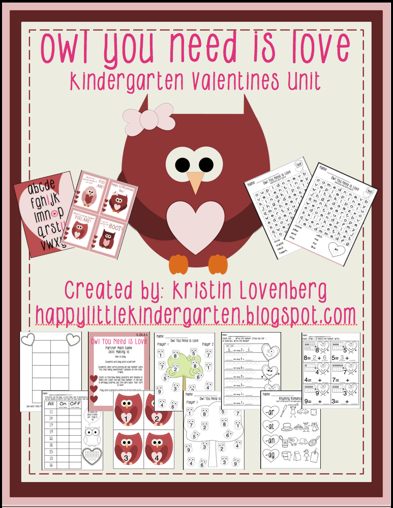http://www.teacherspayteachers.com/Product/Owl-Themed-Valentines-Literacy-and-Math-Unit-1066960