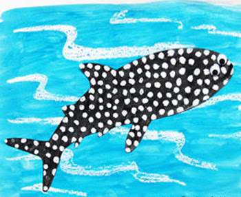 Crayon Resist Whale Shark