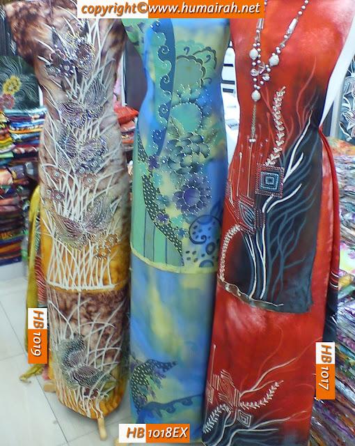 BATIK SUTERA -  Abstract Marble dan Bunga Lalang - HUMAIRAH