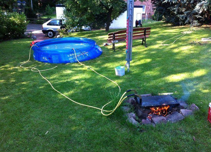 barbacoa piscina