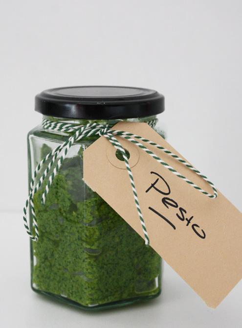 Pesto radish greens