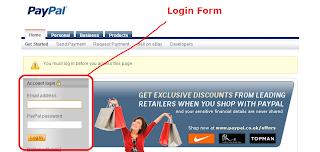 Paypal Login Form