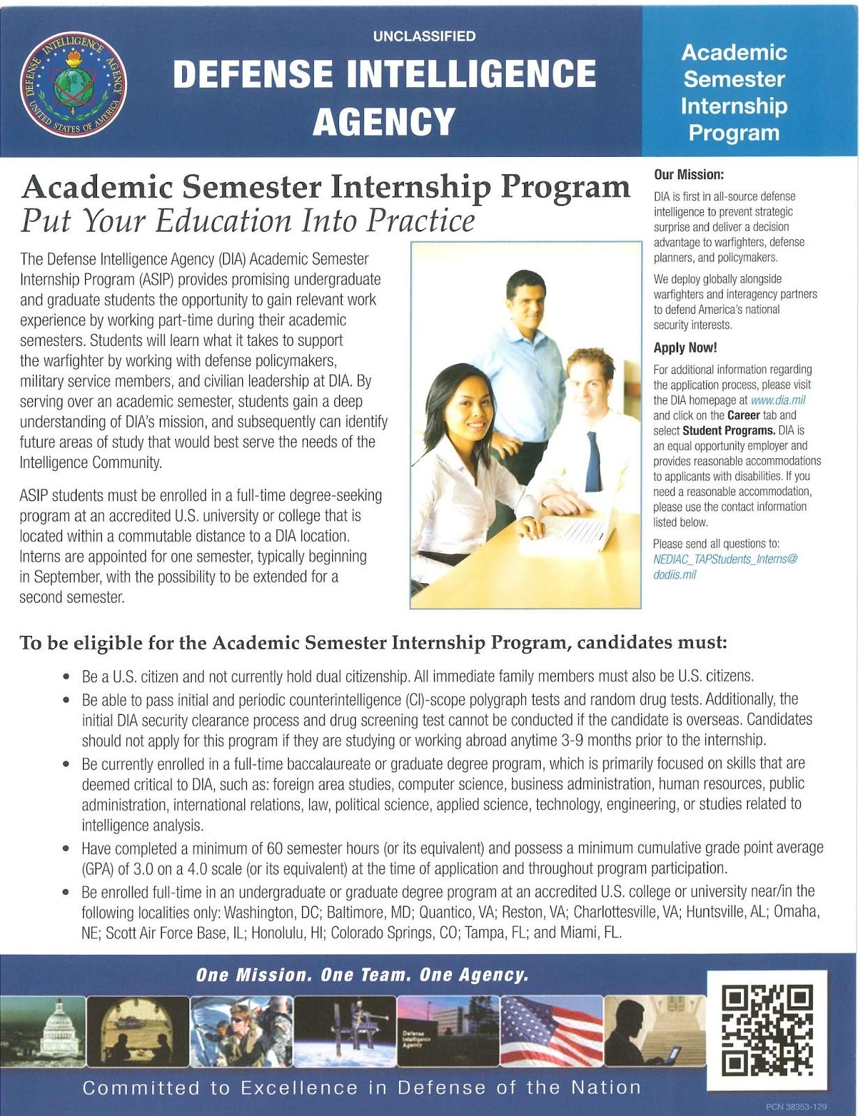 CCJS Undergrad Blog: Defense Intelligence Agency Internship