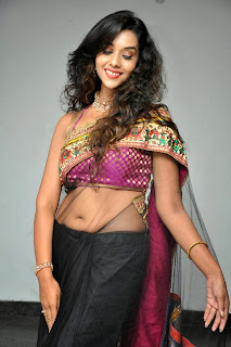 Anu Priya in lovely Tranasparent Saree Lovely Smiling Beauty