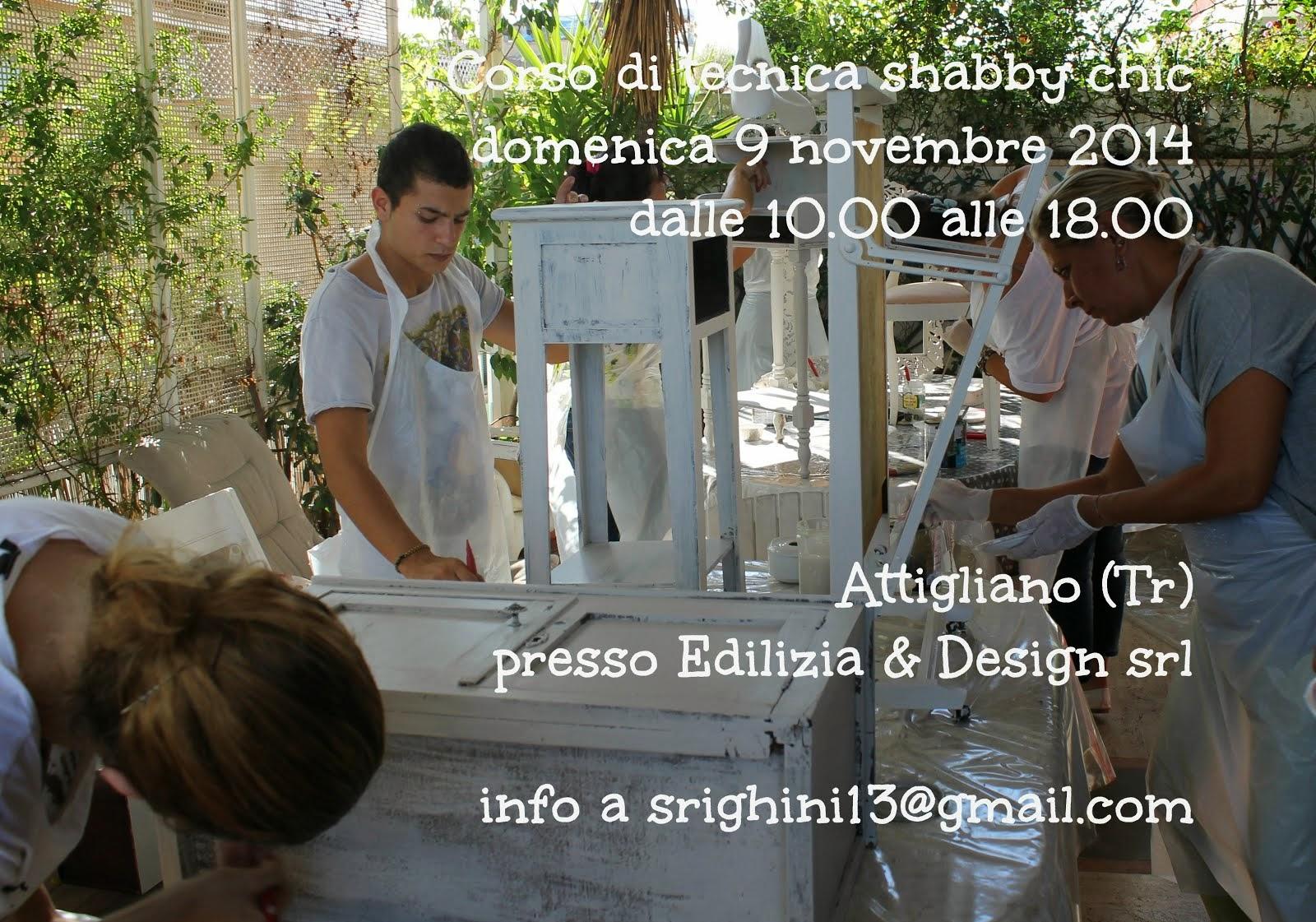 <strong> corso di tecnica shabby a Attigliano  9 novembre 2014  <strong></strong></strong>