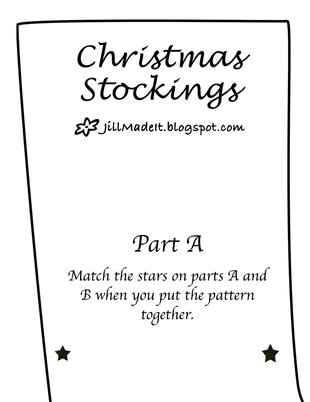 Jill Made It: Variations on a Theme Christmas Stockings {Tutorial}