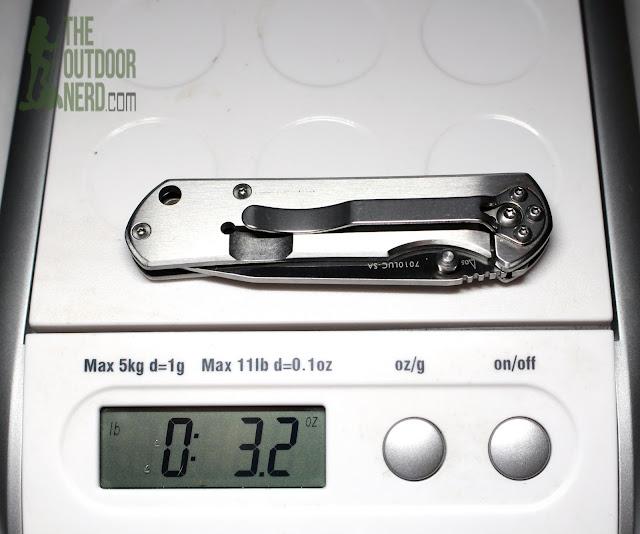 Sanrenmu 7010 EDC Pocket Knife - On Scale