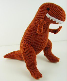 t rex dinosaur knit tyrannosaurus rex toy orange
