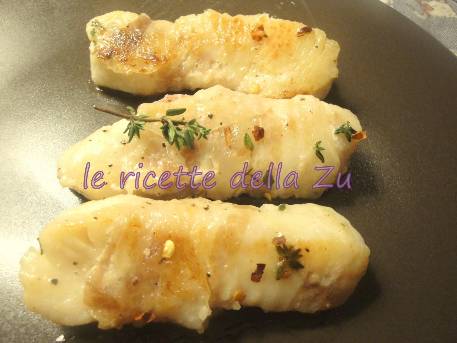 le ricette della zu: trancetti di merluzzo con pancetta profumati ... - Cucinare Filetto Di Merluzzo