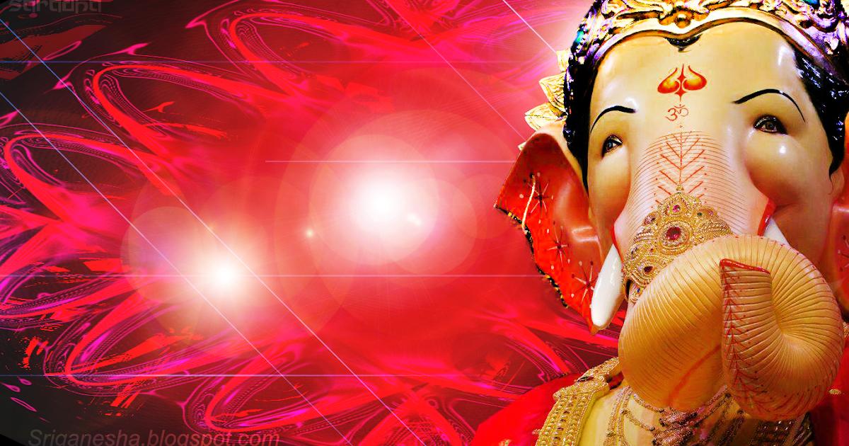 Sri Ganesha: Ganapati-Ganesh in Red Light Background ...