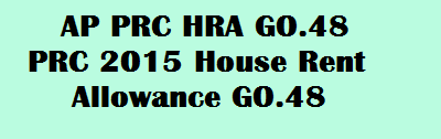 AP PRC HRA GO 48 PRC 2015 House Rent Allowance GO.48