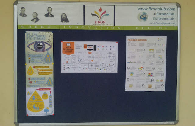 ITRON CLUB Notice Board Live in the NMIT Campus