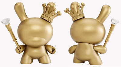 Kidrobot X: 10 Years of Art + Design - Gold King 8 Inch Dunny by Tristan Eaton