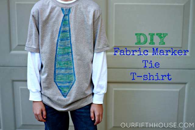 diy tie t-shirt