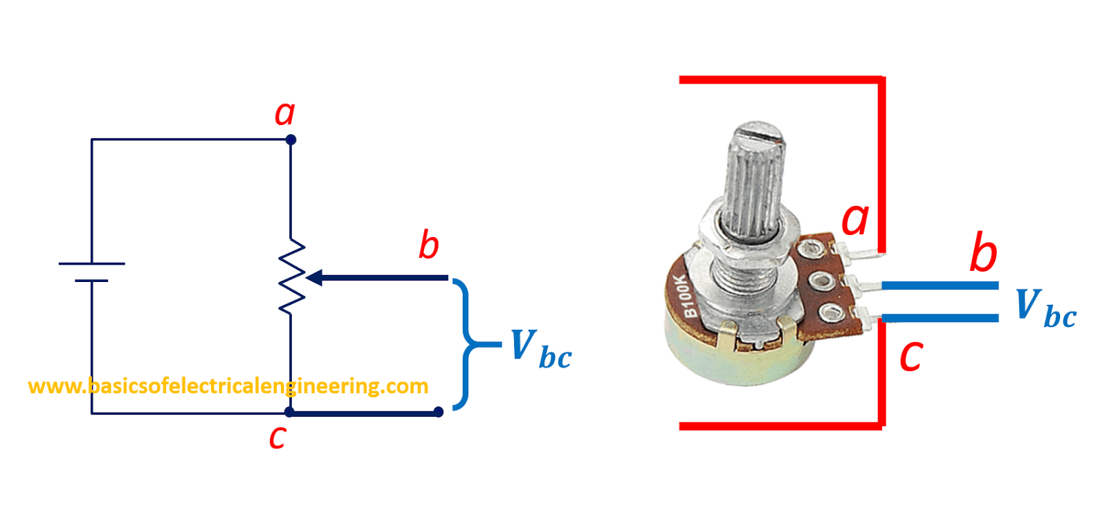 Basics of Potentiometer - Basics of Electrical Engineering
