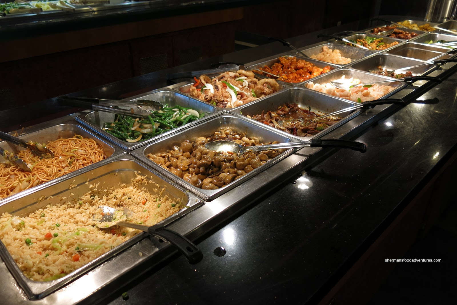 Sherman 39 s food adventures wonderful buffet for Asian cuisine buffet