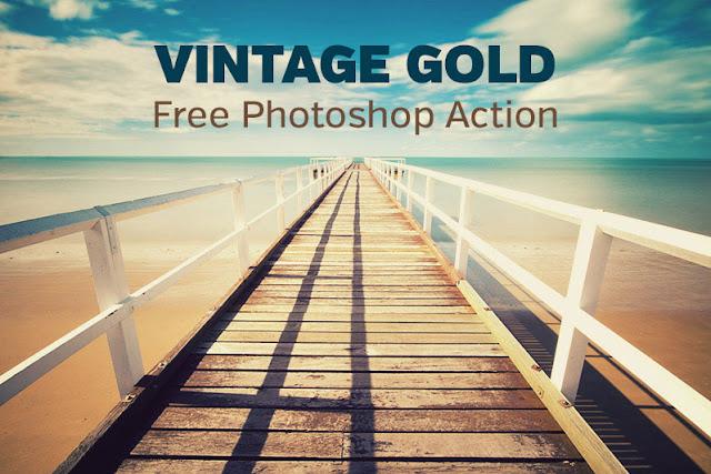 Vintage Gold Photoshop Action