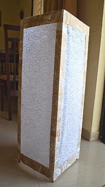 DIY paper lampshade, Diwali