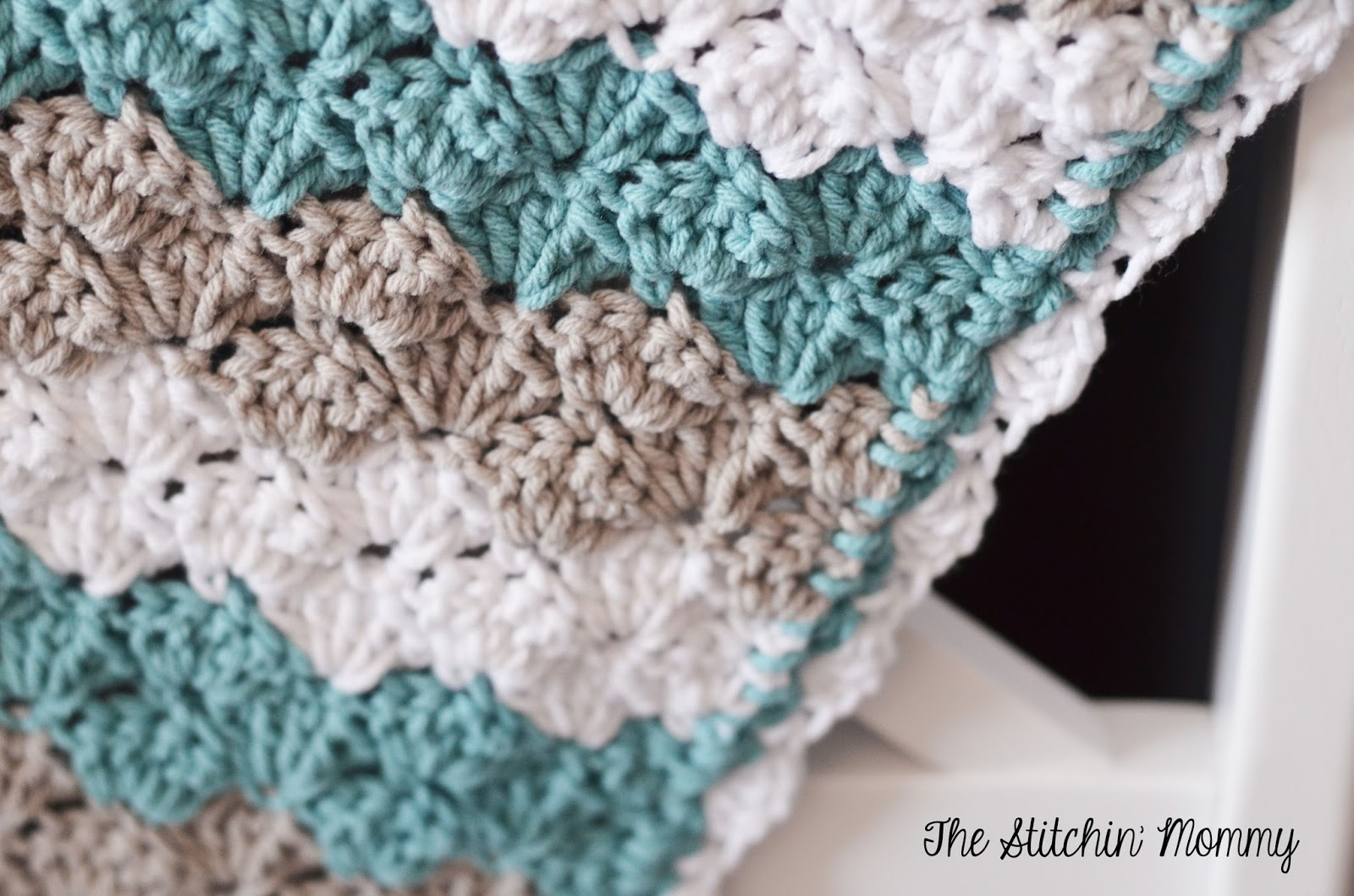 Shell Stitch Baby Blanket  Free Pattern Crochet Blanket Stitch Multiples