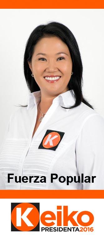 Keiko Fujimori, candidata presidencial de Fuerza Popular