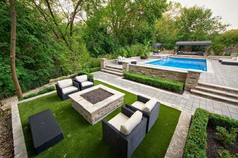 Decoracion Jardin Con Piscina. Asombroso Jardin Con Piscina ...