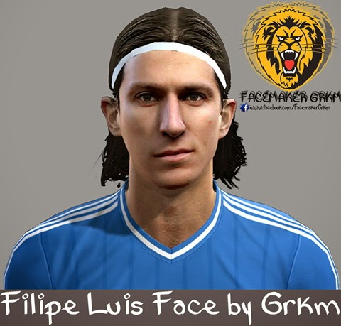 PES 2013 Filipe Luis Face by Grkm