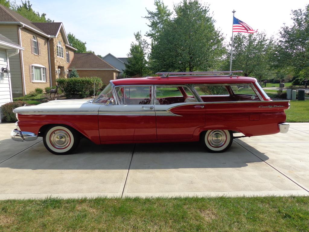 All American Classic Cars: 1959 Ford Fairlane 4-Door Country Sedan ...