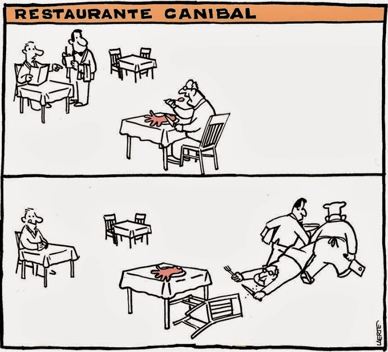 Laerte: Cannibal Restaurant.