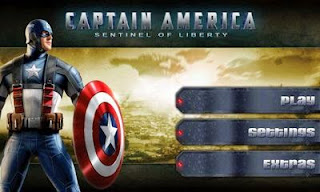 Screenshots of the Captain America: Sentinel of Liberty for Android tablet, phone.
