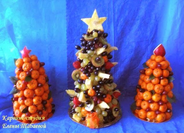 новогодние фруктовые елки