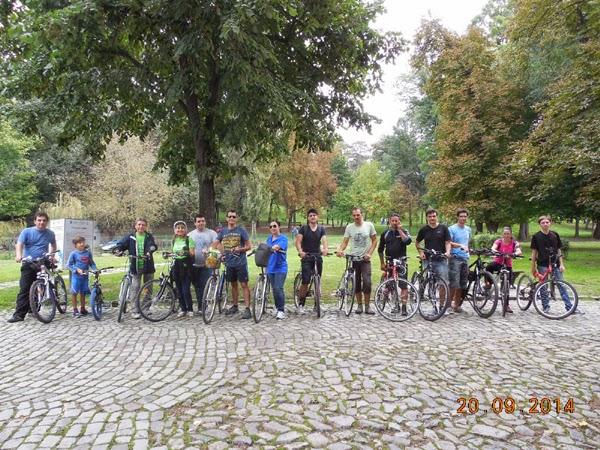 biciclim prin Parcul Romanescu