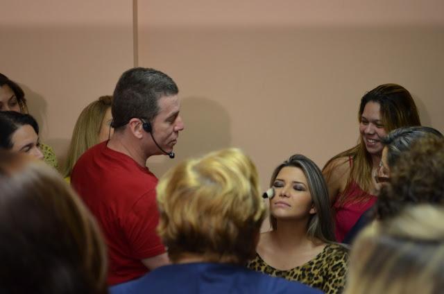 vSomando Beleza, Neiva Marins, Workshop com o maquiador da Natura Marcos Costa