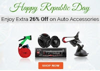 CarDekho Republic Day Offer : Upto 80% off + Extra 26% off on Auto Accessories : BuyToEarn