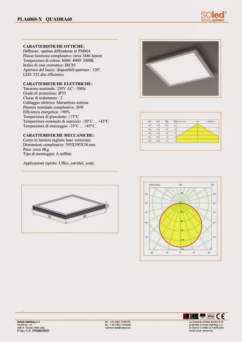 Plafoniere 60x60 a led for Plafoniere a led