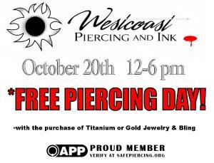 Free Piercing Day