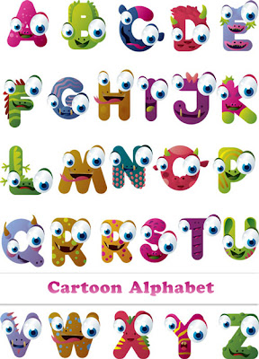 Cartoon Monster Alphabet
