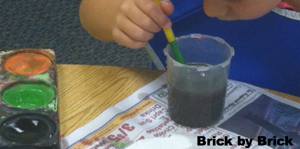 Watercolor Experiment (Brick by Brick)